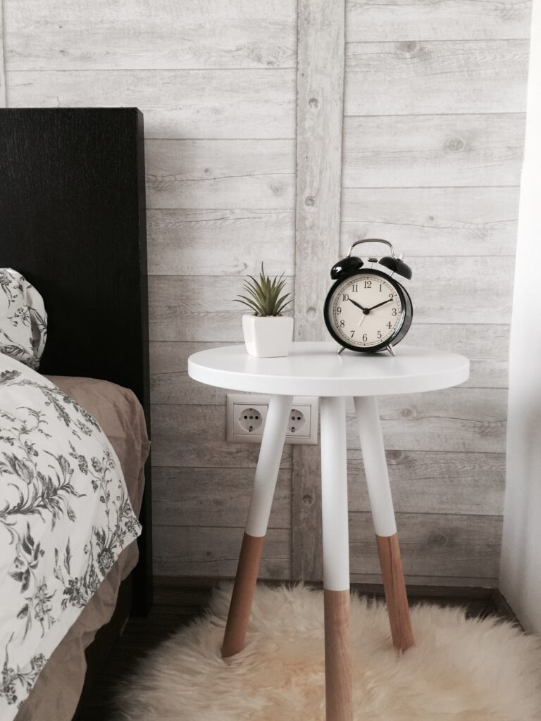 Bed with Clock